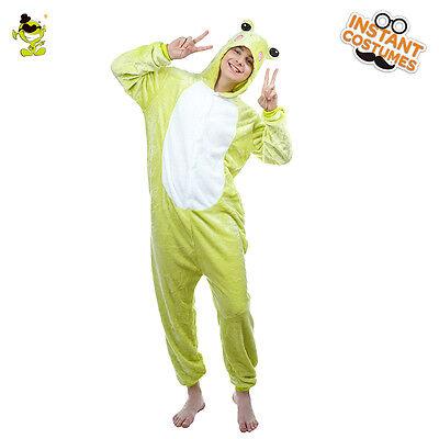 Unisex Adult jumpsuit Animal Pajamas Adult Couple Costume Frog Sleepwear  - Animal Couple Costumes