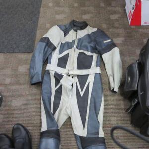 Fieldsheer Leather Motorcycle Race Track Suit Jacket Pants $100