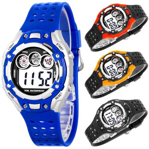 Digitale Armbanduhr für Jungen Kinder Stoppuhr Alarm Licht nickelfrei Box
