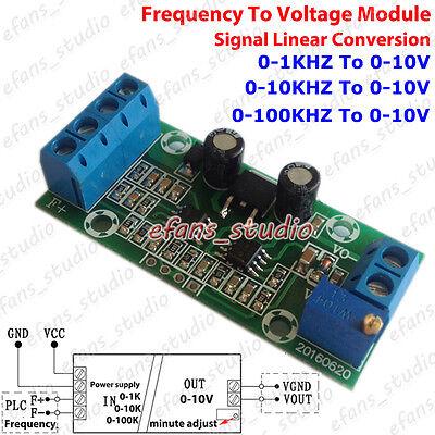 Frequency to Voltage Signal 0-1Khz 10Khz 100Khz To 0-10V Linear Converter Module Frequency Voltage Converter