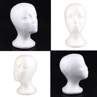 New Female Foam Mannequin Head Model Hat Wig Display Stand Rack White