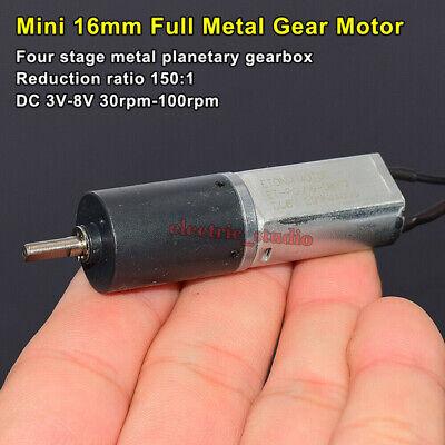 Dc 5v 6v 8v Slow Speed Mini 16mm Planetary Gearbox Gear Motor Fingerprint Lock