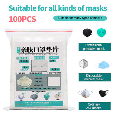 100PCS Face Mask Filter Replacement Pads Breath Filters Air Cleaner for Adults