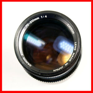 Canon FD 70-210 f4 manual focus lens with hood
