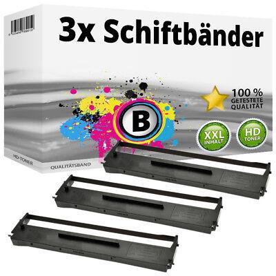 3x Farbband Schriftbandkassette für Epson LQ 500 550 560 570 580 800 SET - Epson Farbband Kassette