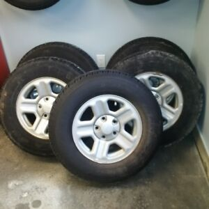 P225/75/R16  Jeep rims and Goodyear Wrangler Tires