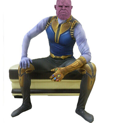 Avengers Halloween Costumes For Adults (Avengers Endgame Thanos Costume Cosplay Kids Adult Costume For Halloween)