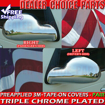 Cruiser Chrome Headlight - For 2004-2010 CHRYSLER PT CRUISER Chrome Mirror COVERS *SEE NOTES*