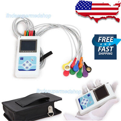Newest 12 Channel Ecg Holter System Recorder Monitor Analyzer Software Ce Fda