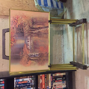 TV table set of 4 with stand