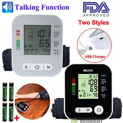 2x Fully Automatic Upper Arm Blood Pressure Monitor Bp Cuff Gauge Machine Meter