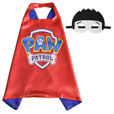 New child boy Halloween costume dress up pretend cape & mask paw patrol inspired](Paw Patrol Halloween Masks)