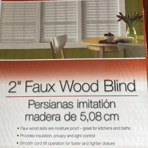 """Bali Faux Wood Blinds: 2"""" in white"""