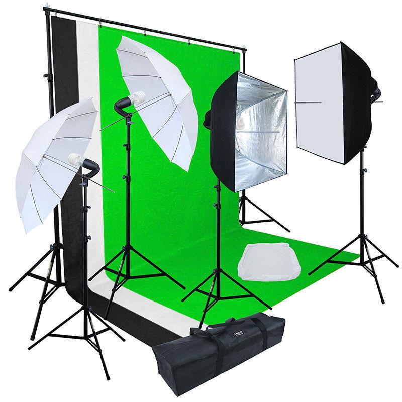Linco Lincostore Studio Lighting 3 Color Photography Backdrop Stand Kit LK374