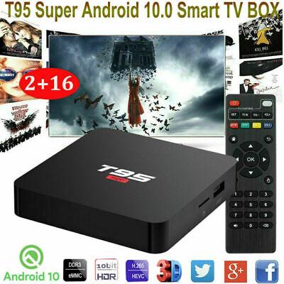 T95 Super Android 10.0 4K HD Smart TV BOX 2GB/16GB Quad-core 3D Media Streamers