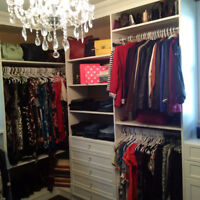 Custom, beautiful and organized closets and other built ins