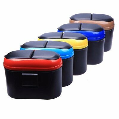 Mini Auto Car Trash Rubbish Can Garbage Dust Dustbin Box Case Holder Bin
