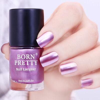 BORN PRETTY Metallic Nail Art Polish Mirror Purple Manicure Nails Varnish 9ml (Purple Nail Art)