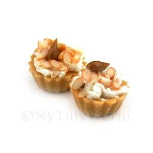 3-Dolls-House-Miniature-Loose-Handmade-Chopped-Almond-Tarts