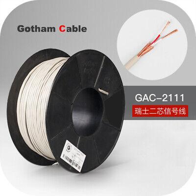 1meter Gac-2111 Gotham 2-core Signal Cable Rca Coaxial Balanced Audio