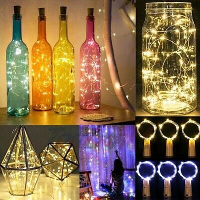 20/30 PCS LED Warm Cold Wine Bottle Cork Shape Night Fairy Lamp String Lights  ()