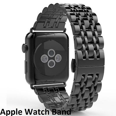 Apple Watch Black Stainless Steel iWatch Band Strap 42mm (special edition 6)