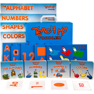 Teach my Toddler Kit books puzzles flashcards posters