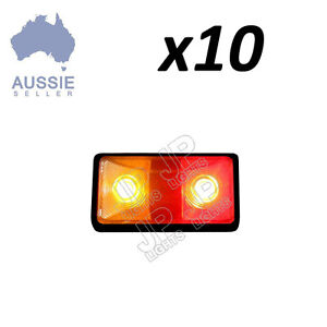 x10 LED LIGHT SIDE MARKER CLEARANCE LIGHT LAMP AMBER RED TRAILER TRUCK 10 - 30V
