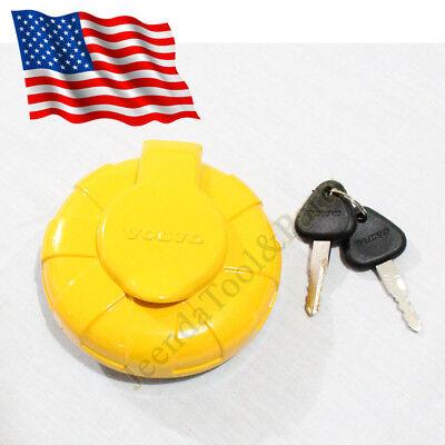New Volvo Excavator Locking Fuel Cap 14528922 For Ew160b Ec290b Ec210c Q1221 Zx