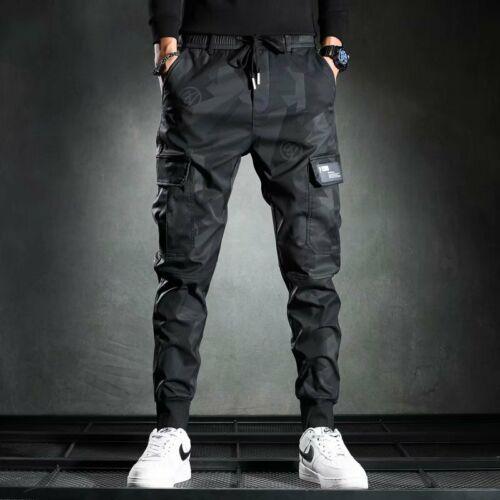 Men Casual Streetwear Jogger Cargo Pants Sweatpants Combat Sports Urban Trousers