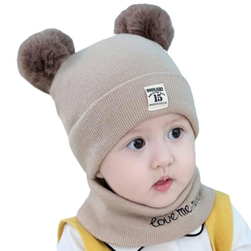 Toddler Girl Baby Knit Hat +