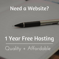 Student Web Designer $400 with 1 Year Free Hosting!