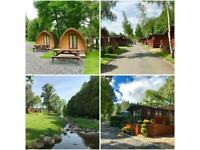 static caravan holiday home for sale at Lowther Lake District Cumbria decking