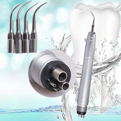 Dental Hygienist Ultrasonic Air Perio Scaler Handpiece 4-hole Tips Fit Nsk