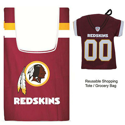 New Jersey Style Nfl Washington Redskins Reusable Shopping Tote Grocery Bag