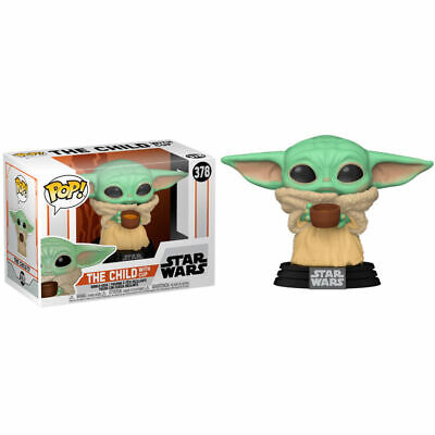 FUNKO POP! VINYL STAR WARS MANDALORIAN THE CHILD WITH CUP #378 ** PREORDER **