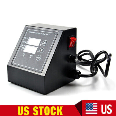 Us Digital Control Box Temperature Time For Heat Press Machine 2 Display 110v