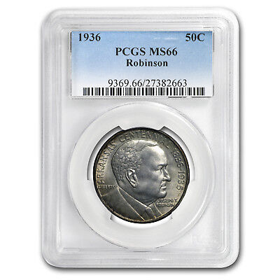 Click now to see the BUY IT NOW Price! 1936 ROBINSON ARKANSAS HALF DOLLAR MS 66 PCGS