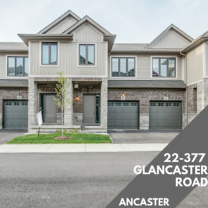 Ancaster Townhome - 3 bed 2.5 Bath - $429,900