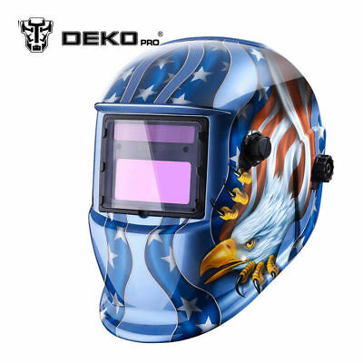 Solar Powered Auto Darkening Welding Helmet With Adjustable Shade Range