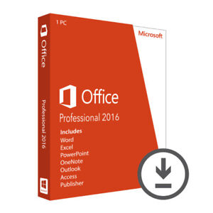 2016 Microsoft Office Professional - Product key for 1 PC