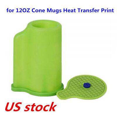 Us 3d Sublimation Silicone Mold Mug Clamp For 12oz Cone Mugs Heat Transfer Print