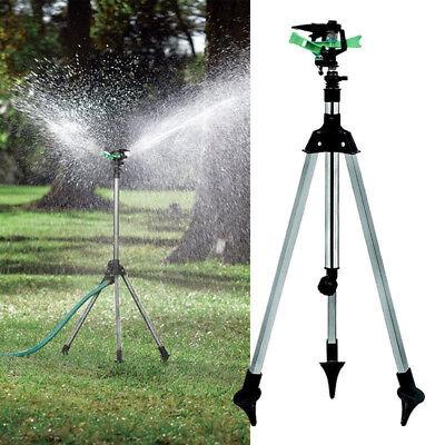 Water Sprinkler Tripod Lawn Garden Watering Yard Impulse Irrigation L Adjustable
