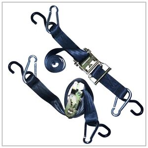 2-HEAVY-DUTY-Motorcycle-Ratchet-Tie-Down-Straps-Harley
