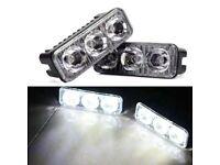 2PCS LED Daytime Running Light Car Driving Front Fog Lamp Universal High Bright