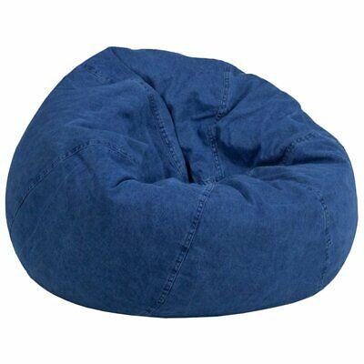 Flash Furniture Small Kids Bean Bag Chair In Denim ()