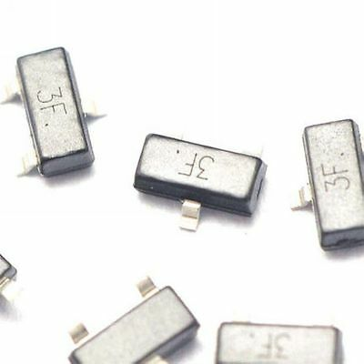 100pcs Bc857b 3f 3fw 3ft 0.1a45v Pnp Sot23 Smd Transistor