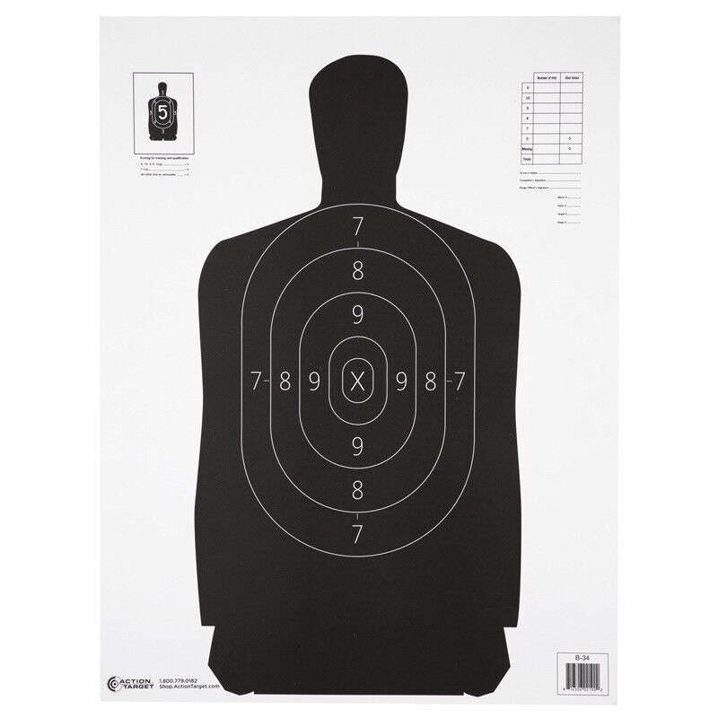 Action Target Qualification Target 25 Yard Reduction Of B-27   100 Per Box