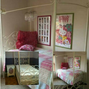 Bombay Kids White metal Canopy Twin bed.