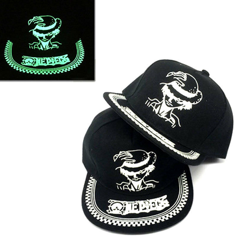 Luminous Anime One Piece Strawhat Pirates Luffy Baseball Cap Snapback Sun Hat